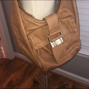 Givenchy large, tan slouchy crossbody.
